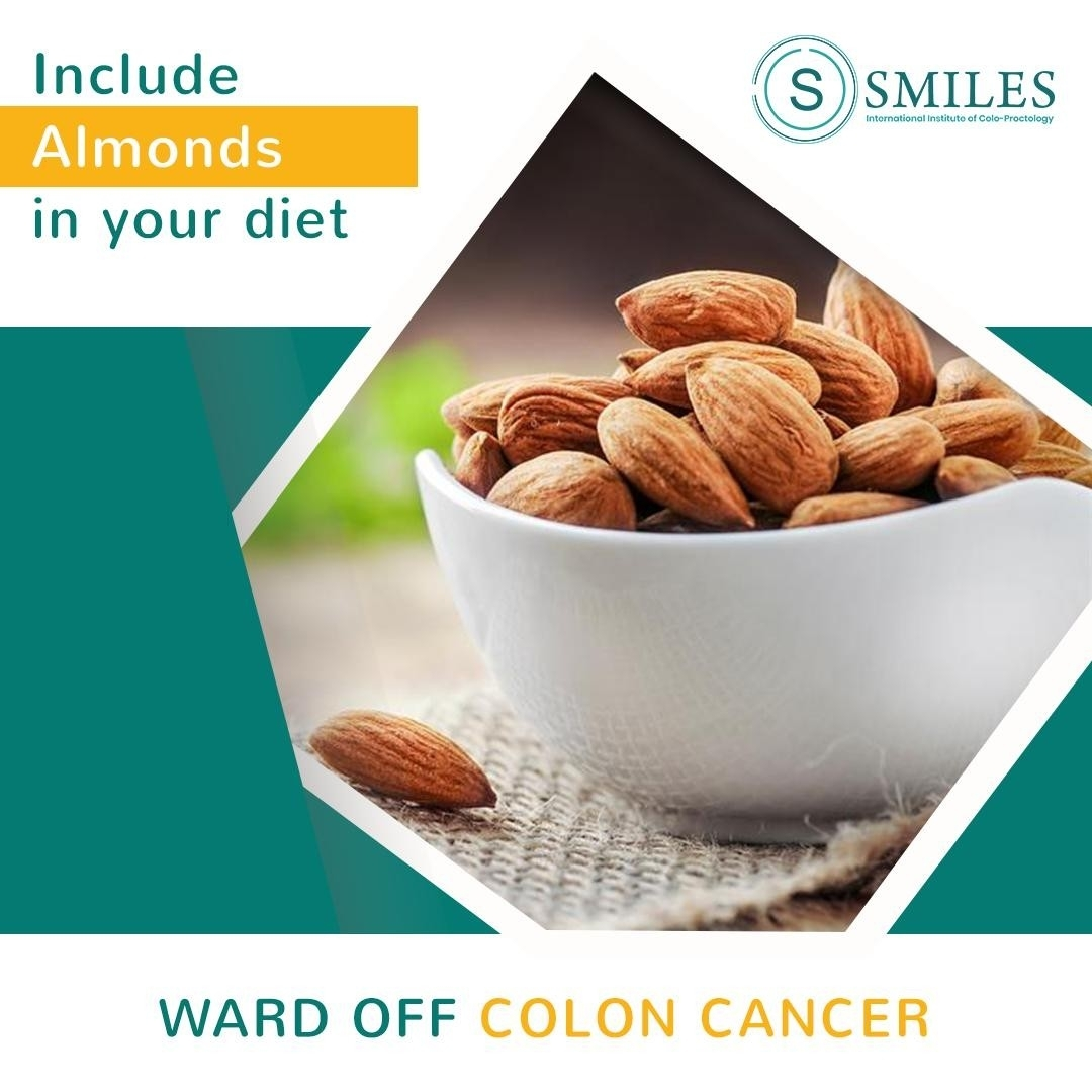 Eat Almonds to ward off colon cacner