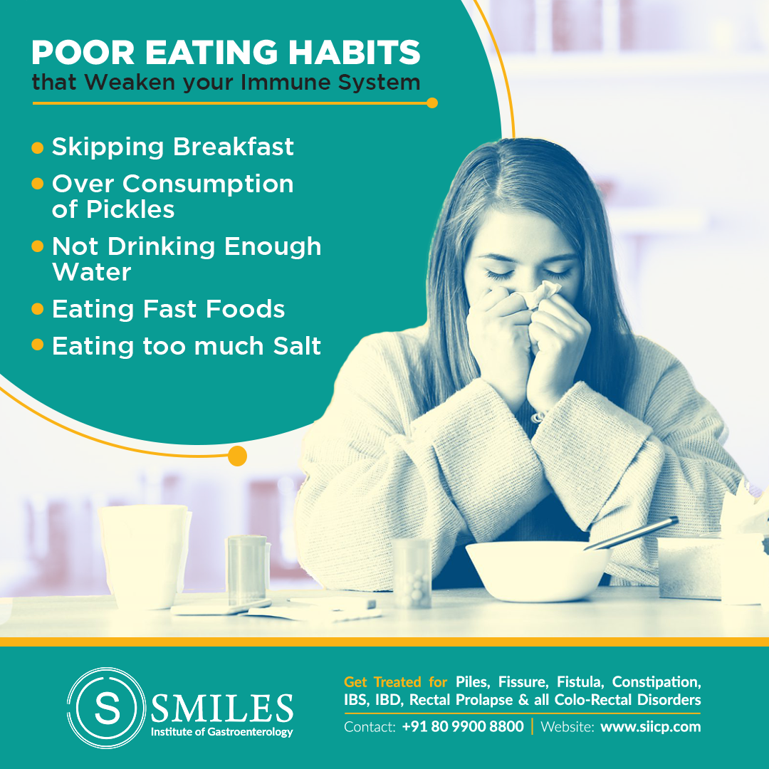 poor eating habits that may weaken immune system