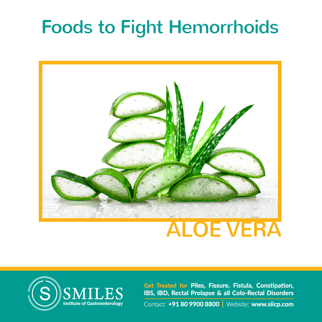 Aloe Vera to Prevent Piles - Adding anti-inflammatory Aloe Vera to hemorrhoids speeds up healing & moisturizes.  For external piles: Apply aloe vera gel to the anus to soothe & hydrate the swollen veins.  For internal piles: Apply freeze peeled aloe vera leaves on the affected area for a fast pain relief.